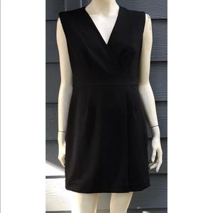 Banana Republic Dress Black Top Wrap Lined Sz 10P